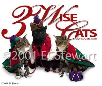 3 Wise Cats - ECStewart Collection
