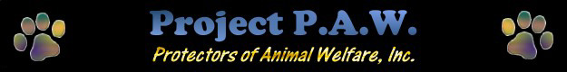 Project PAW : Protectors of Animal Welfare