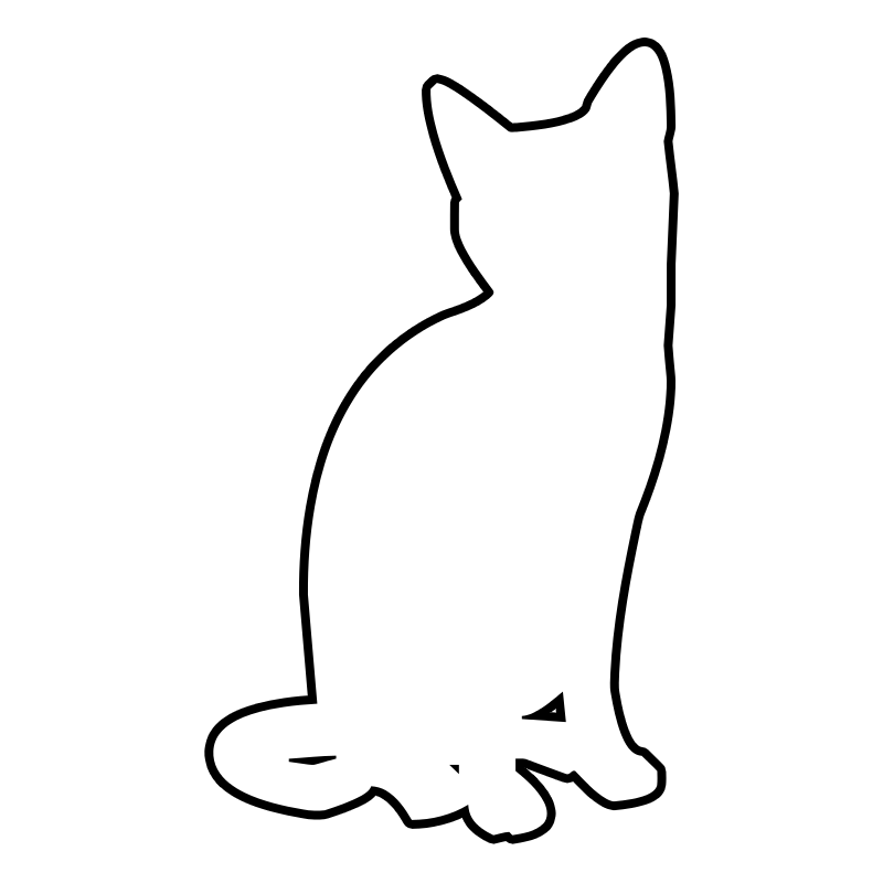 outline of a cat #1