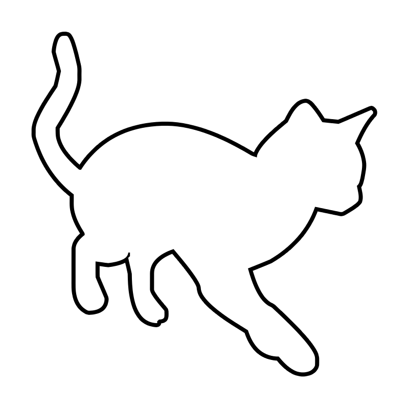 outline of a cat #2