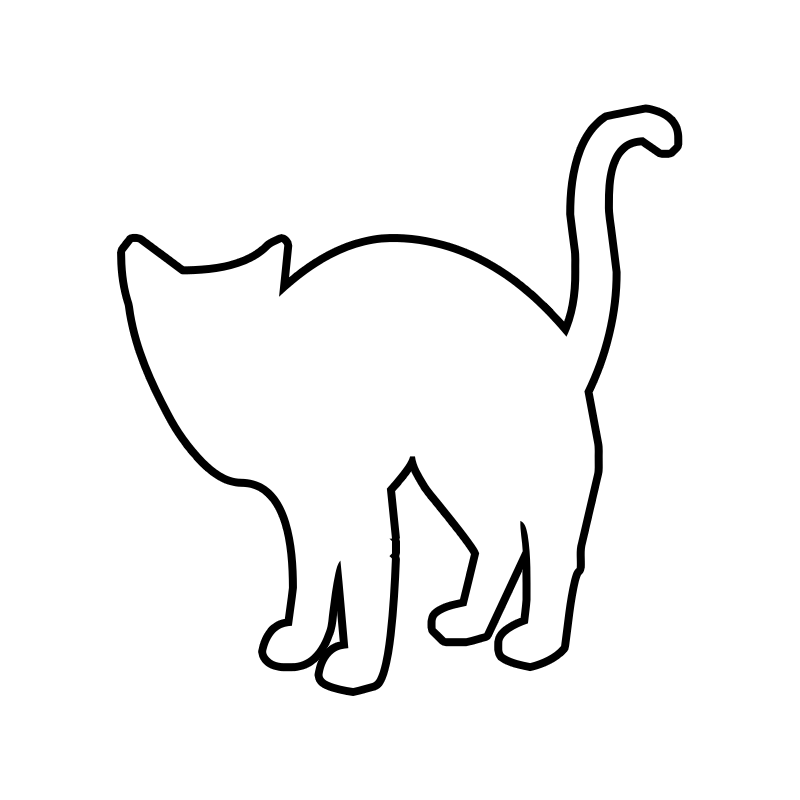 outline of a cat #3