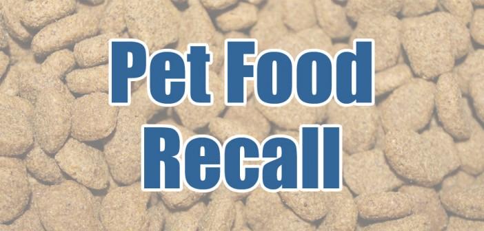 pet food recall banner