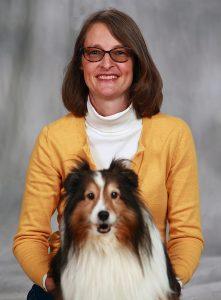 photo of Gretchen Carlisle and her dog