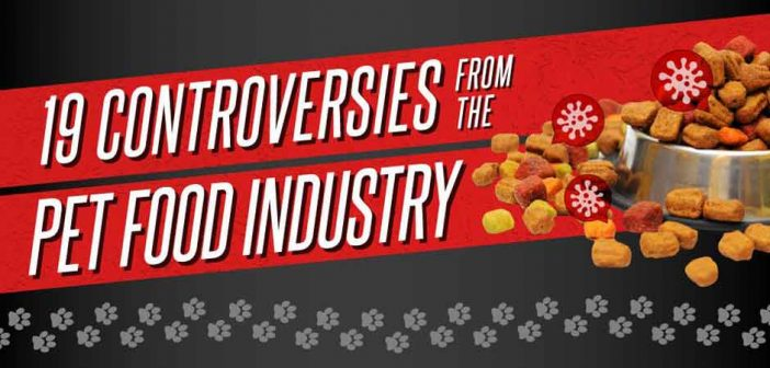 pet food industry controversies infographic banner