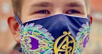 young man wearing an antonio stafano mask