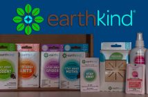 earthkind logo above a line up of their stay away pest products