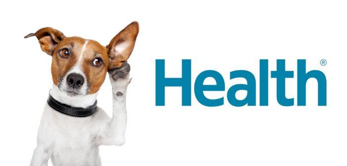 dog listening to health logo