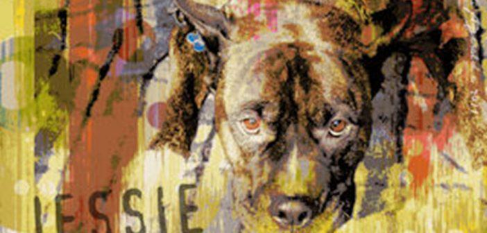portion of jessie dog artwork from artist