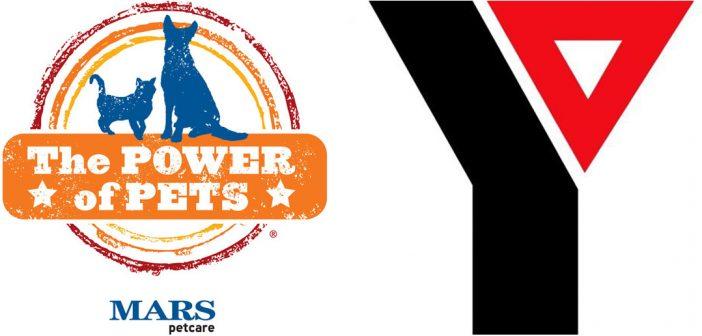 Mars Power of Pets Logo and YMCA logo