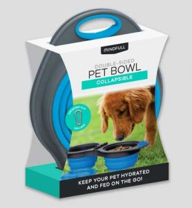 double sided collapsible pet bowl