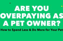 banner graphic that says are you overpaying as a pet owner