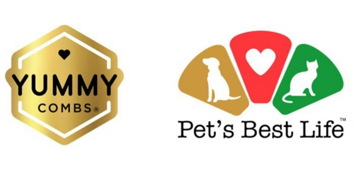 Yummy Combs logo and Pets Best Life logo